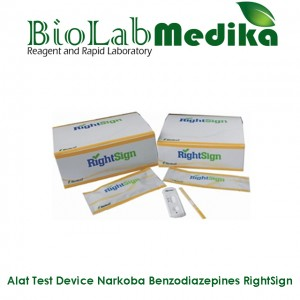 Rapid Test Device Narkoba Benzodiazepines RightSign