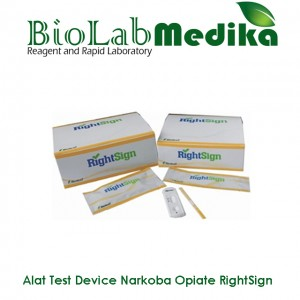 Rapid Test Device Narkoba Opiate RightSign