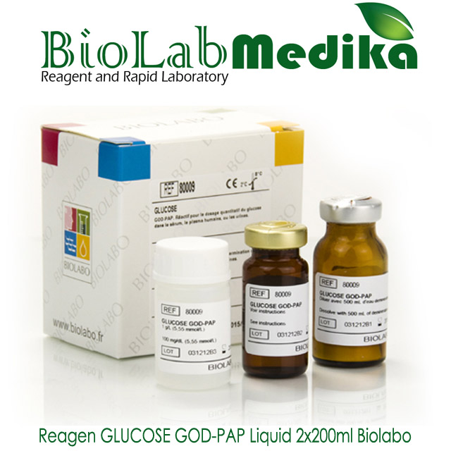 Reagen GLUCOSE GOD-PAP Liquid 2x200ml Biolabo