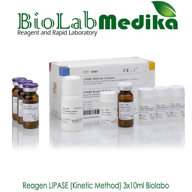 Reagen LIPASE (Kinetic Method) 3x10ml Biolabo