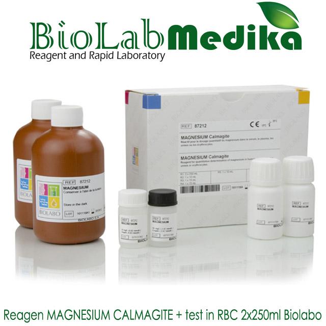 Reagen MAGNESIUM CALMAGITE + test in RBC 2x250ml Biolabo