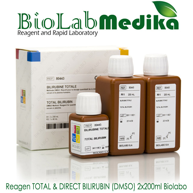 Reagen TOTAL & DIRECT BILIRUBIN (DMSO) 2x200ml Biolabo
