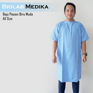 Baju Pasien Biru Muda All Size