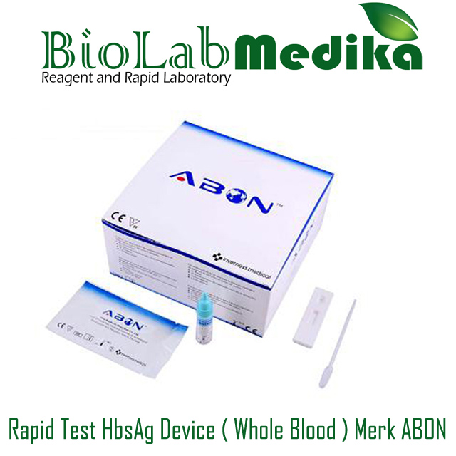 Rapid Test HbsAg Device ( Whole Blood ) Merk ABON