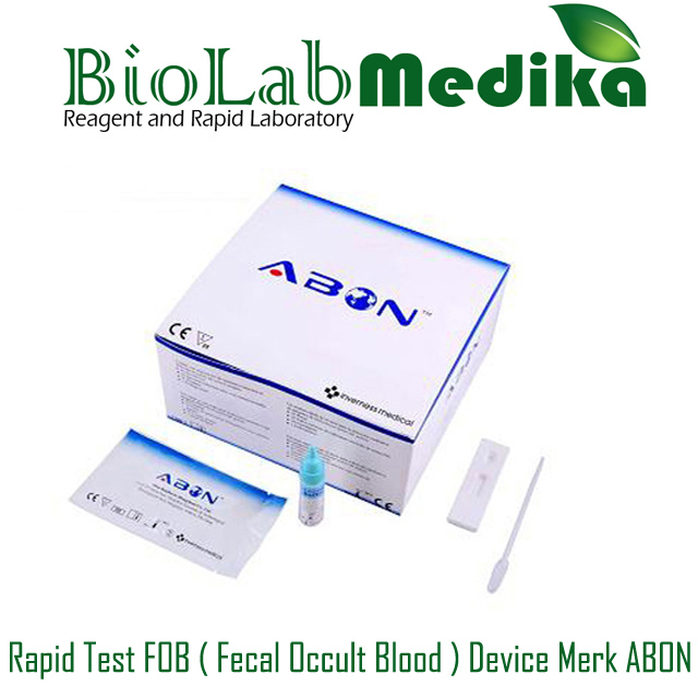 Rapid Test FOB ( Fecal Occult Blood ) Device Merk ABON