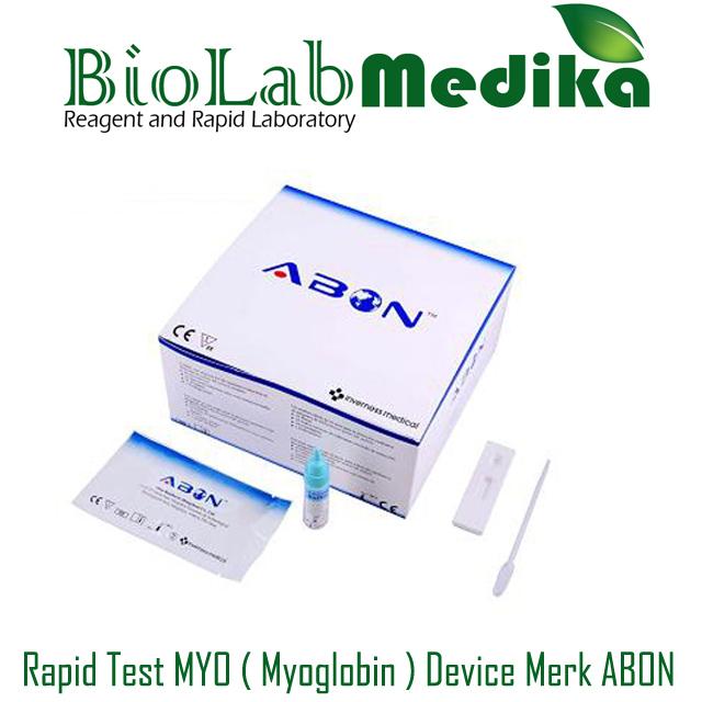 Rapid Test MYO ( Myoglobin ) Device Merk ABON
