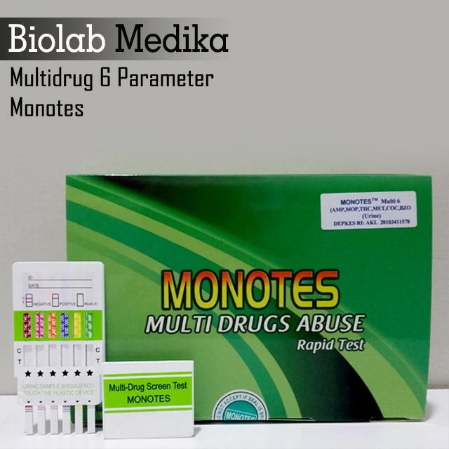 Multi 6 Parameter Tes Narkoba Monotes