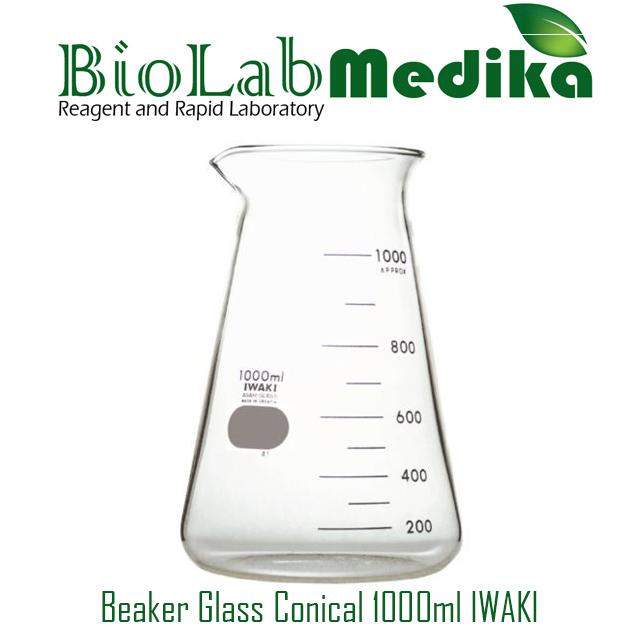 Beaker Glass Conical 1000ml IWAKI