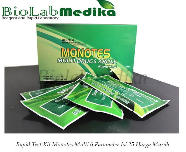Rapid Test Kit Monotes Multi 6 Parameter Isi 25 Harga Murah